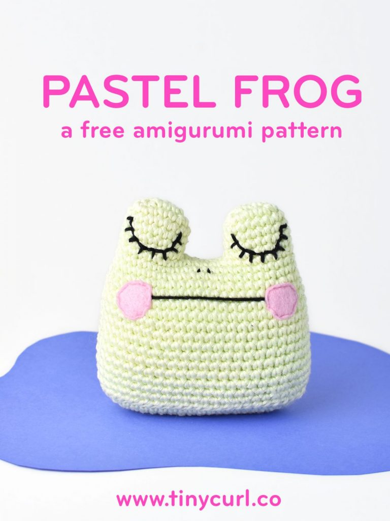 Amigurumi Frog Free Crochet Pattern poster by Tiny Curl